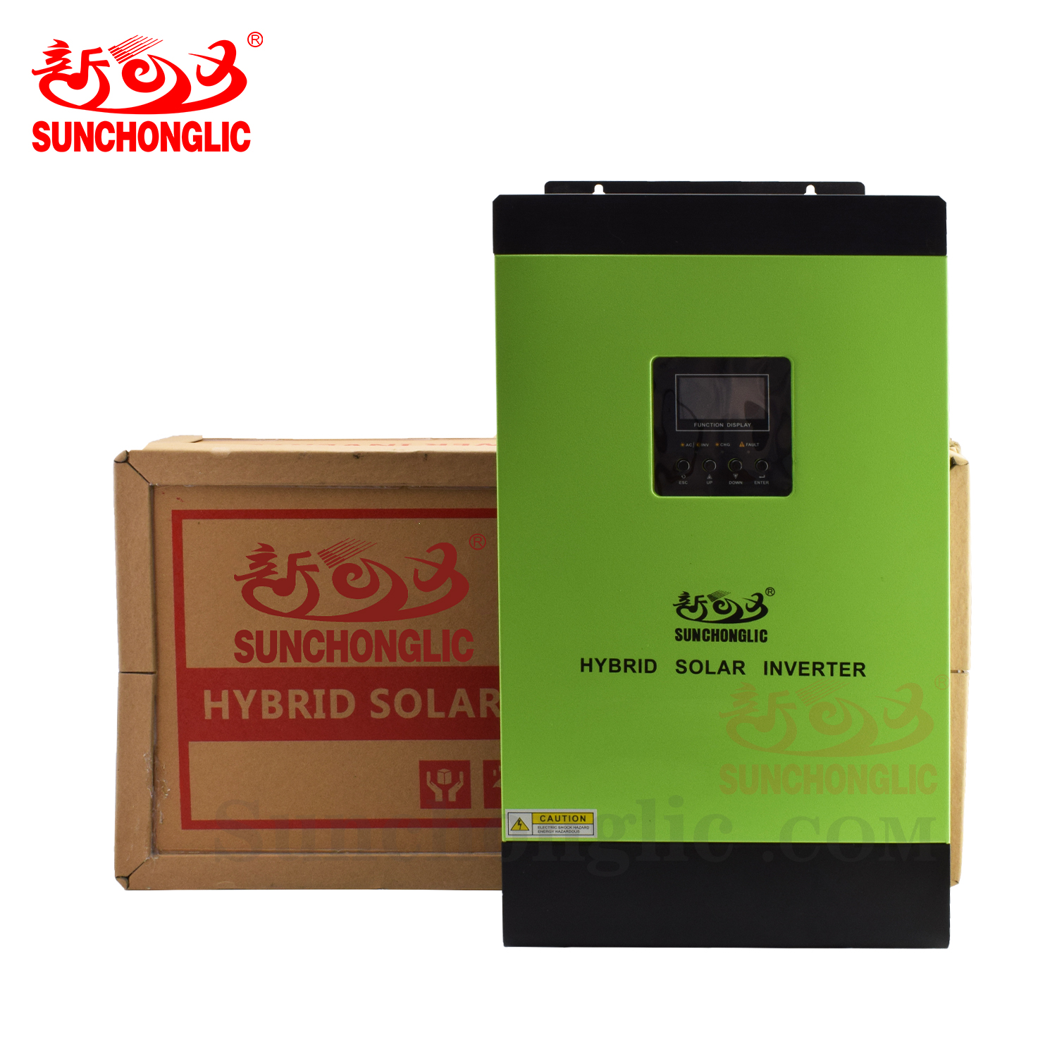 Sunchonglic high frequency 48v 5kva pure sine wave mppt hybrid solar inverter