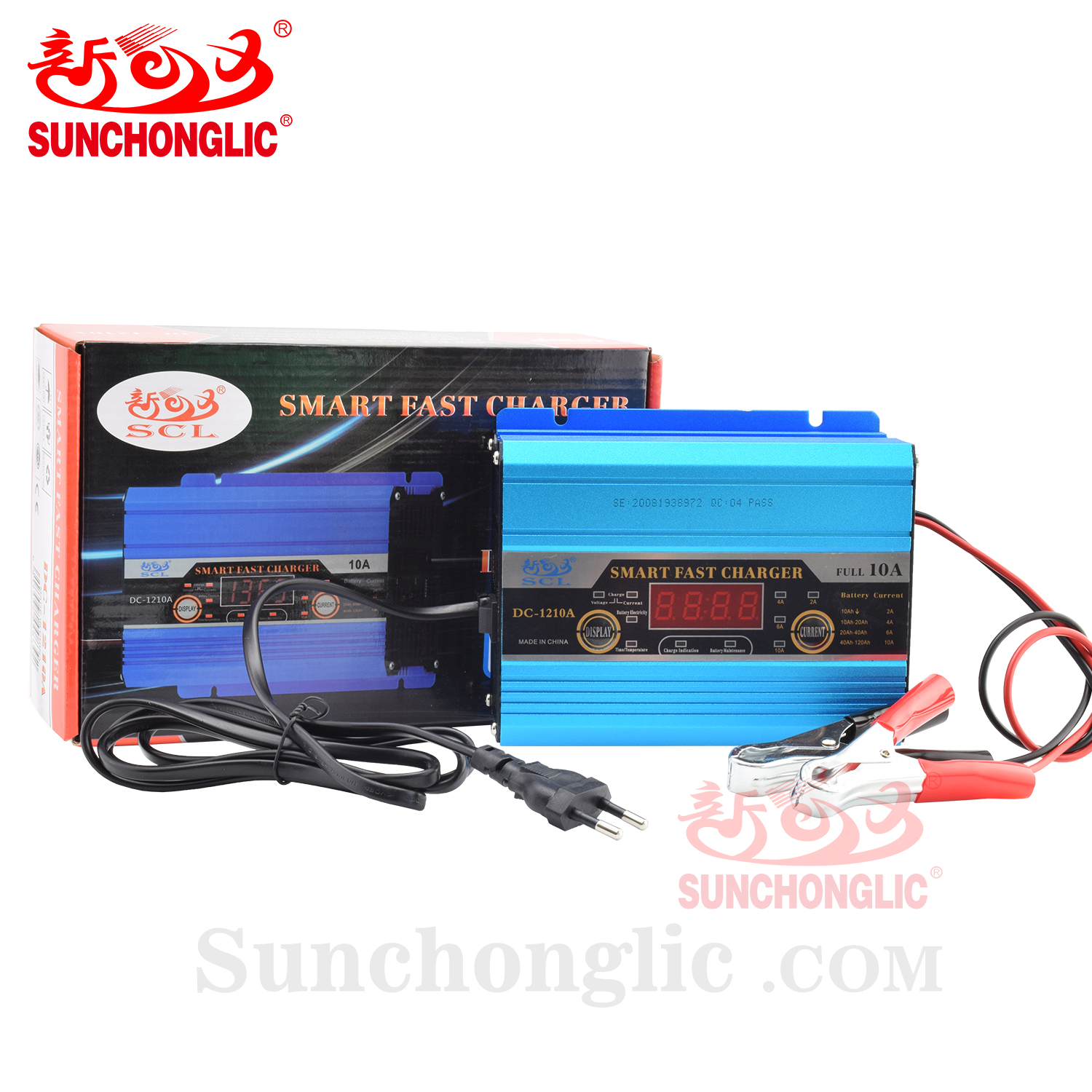 Sunchonglic 12v 10A three phase automatic lead acid car battery charger