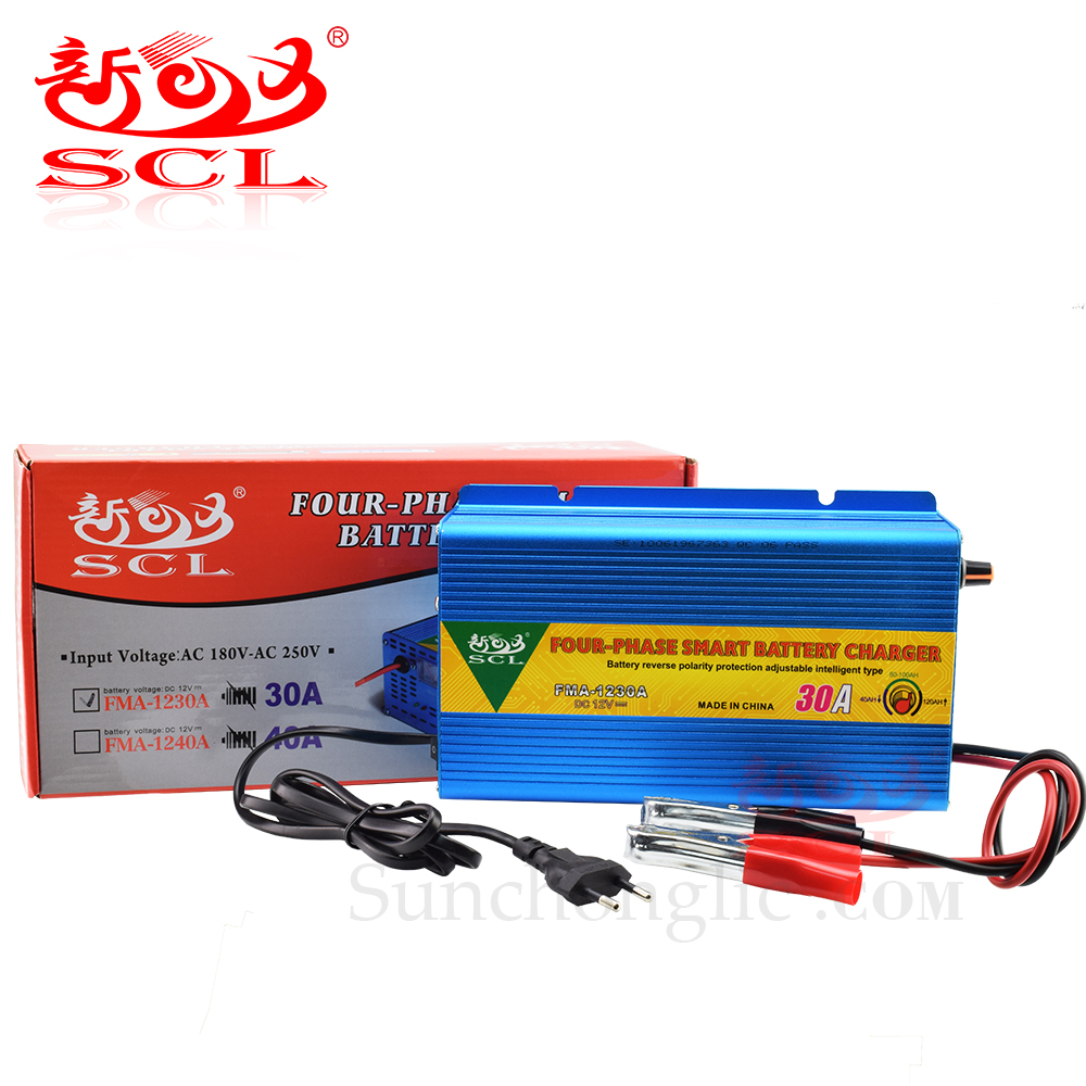 Sunchonglic smart 12V 30A GEL AGM lead acid battery charger