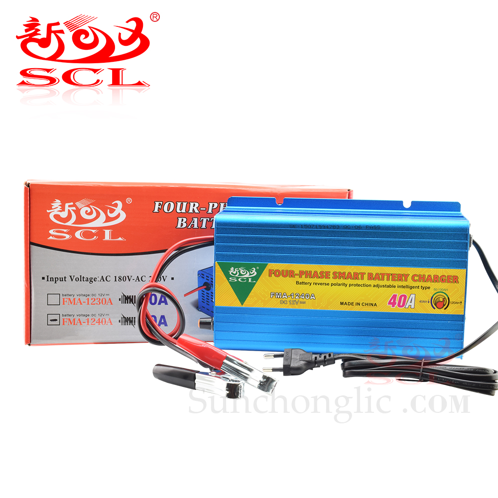 Sunchonglic four phase 12v 40A ac dc lead acid car battery charger