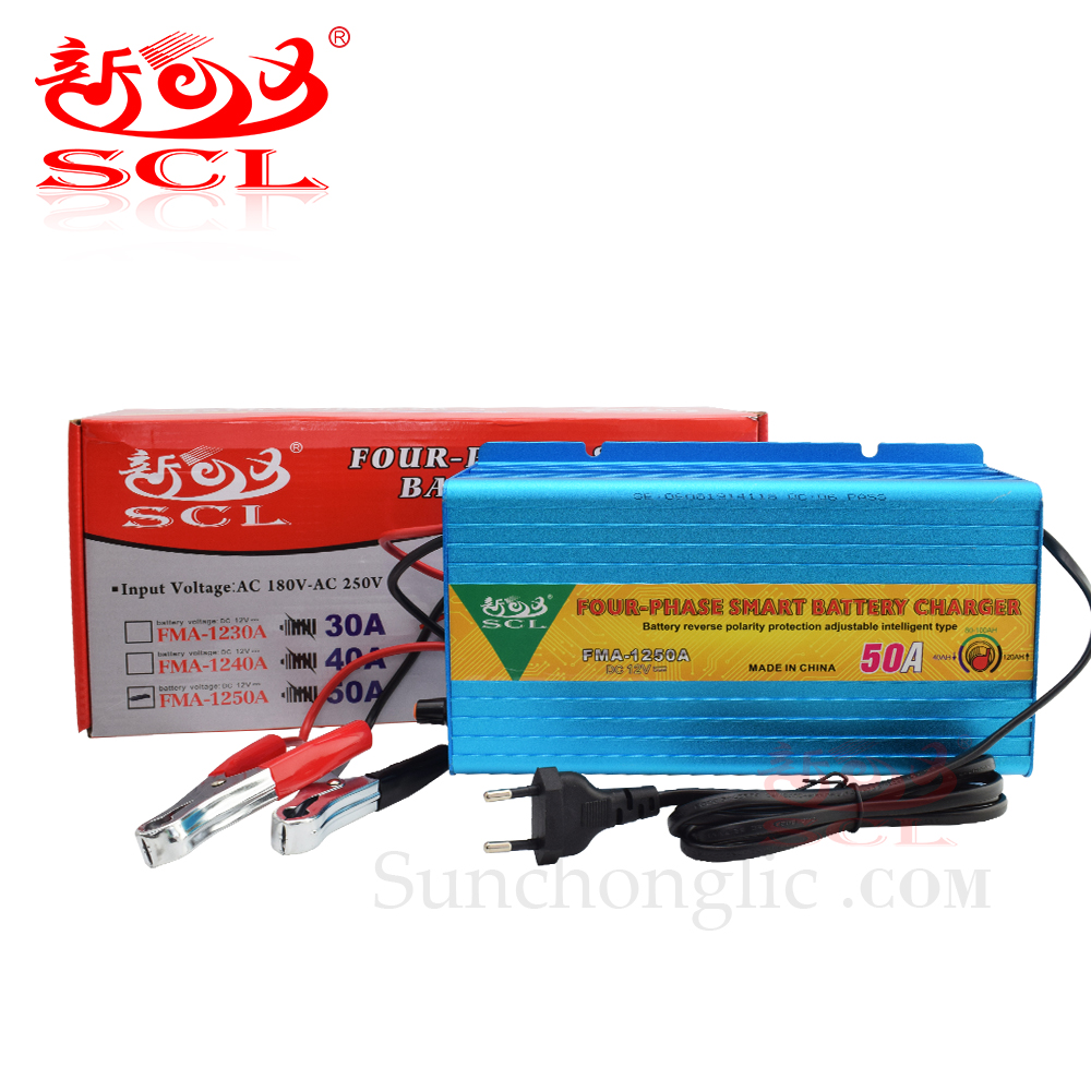 Sunchonglic 12v 50a four phase car lead acid battery charger