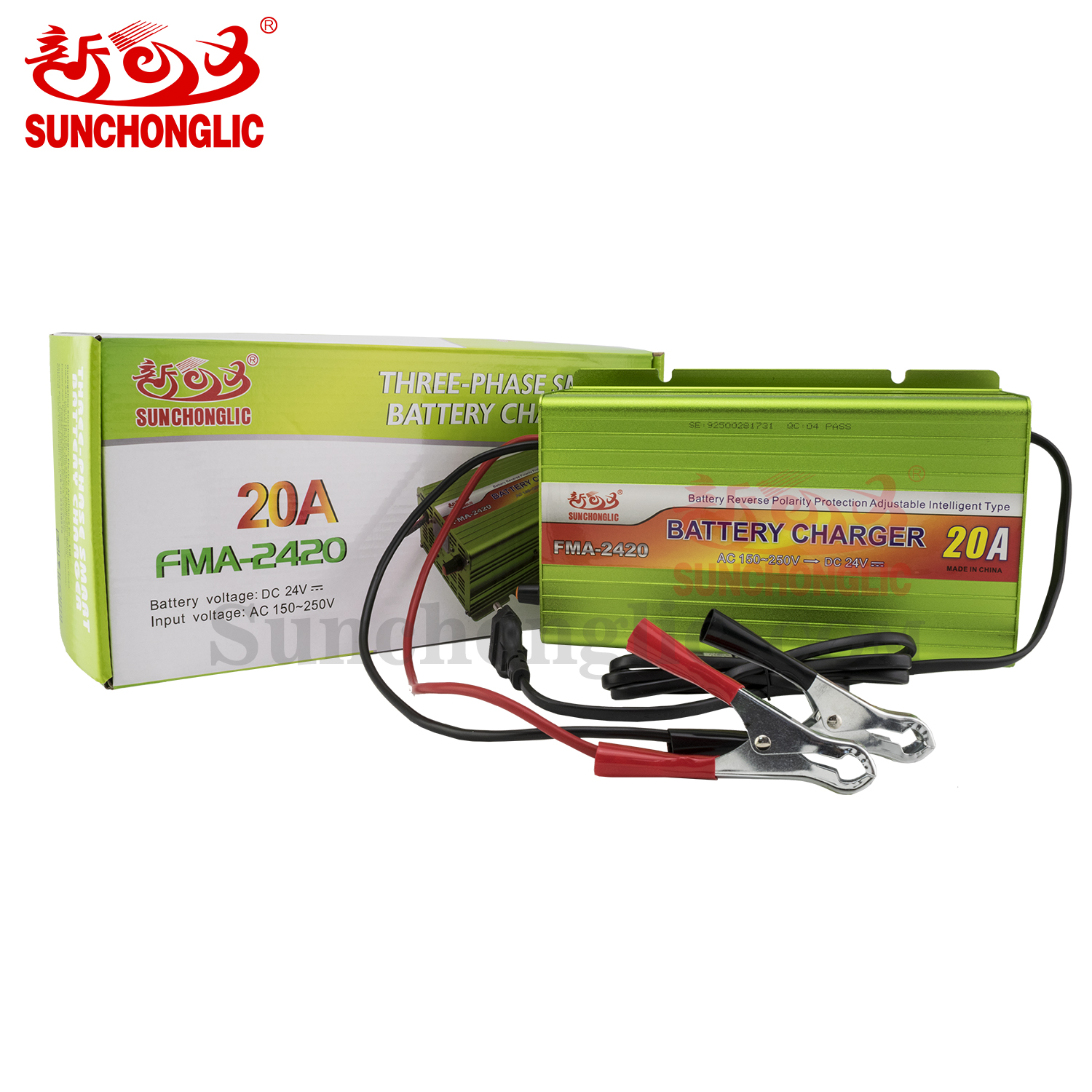 Sunchonglic 24V 20A three-phase lead acid car battery charger