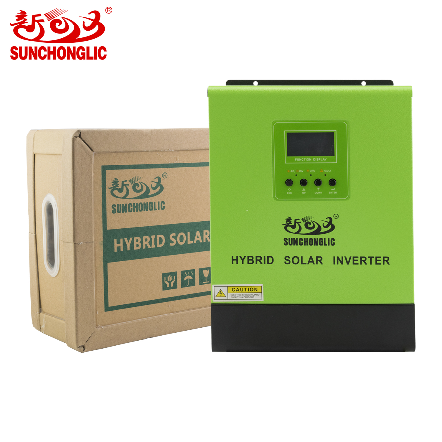 Sunchonglic 12V 1000w pure sine wave PWM hybrid solar inverter with 20A AC charger